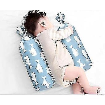 Neugeborene Baby Kissen Seite Schlafen Buchweizen Komfort Kissen (Blauwal)