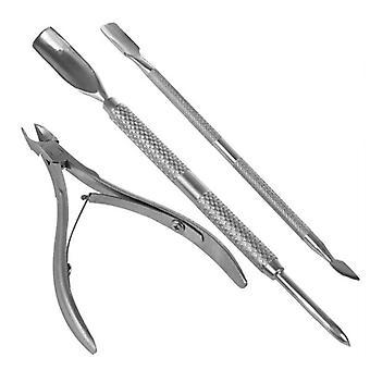 Kynsityökalut Kuorinta Työkalusarja Kynsinapainin Kestävä Manikyyri työkalu| Kynsinakset(hopea)
