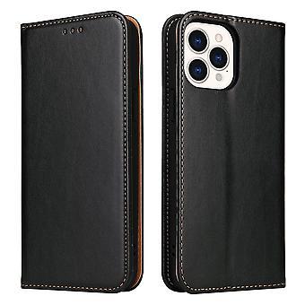 iPhone 13 Pro Caseレザーフリップウォレットフォリオカバー(スタンドブラック付)