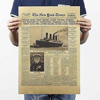 The New York Times Vintage Kraft Paper Classic Movie Poster Magazine Art Cafe
