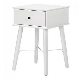 Accent Plus Classic Mod White Side Table, Pack of 1