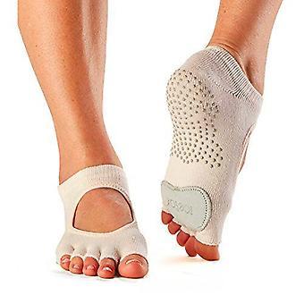 Toesox Full Toe Plie Dance Inspirerade Grip Strumpor Med Läder Pad - Sweetpea