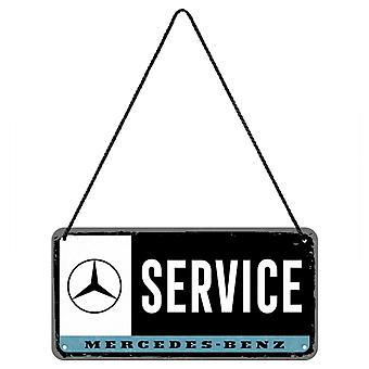 Mercedes Benz Service Vintage Design Hängande Skylt