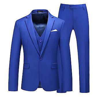 Mens Suits One Button Slim Fit 3 Stuks Pak