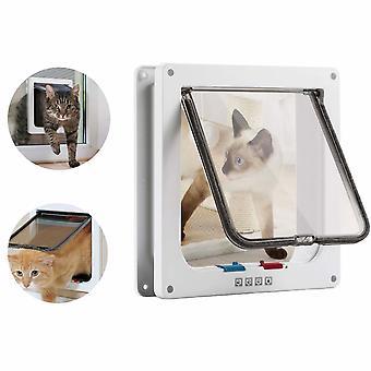 Plastic Pet Door Cat Door Hondendeur Cat Door White Hole Maat M