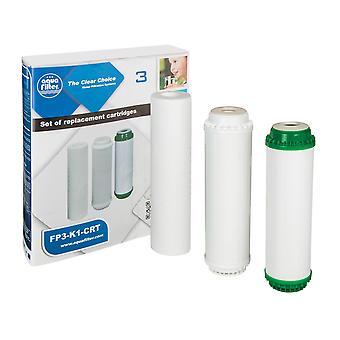 Set cartuș de apă 3x filtre înlocuibil elimină sedimente sistem de filtrare
