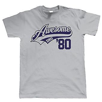 Mahtava vuodesta 1980, Mens Funny 40th syntymä päivä T-paita-lahja hänelle isä Grandad