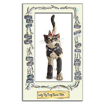 Royal Furmily Pawtraits dame lille Tinsy Teena tunfisk katten enkelt kjøkkenhåndkle