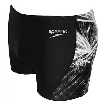Speedo выносливость + размещение кривой панели Аква короткая, черный/серый