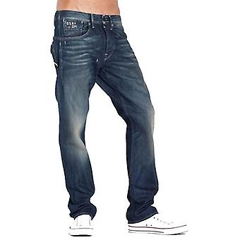 G-Star Structor Straight Aged Wash Spike Denim Jeans