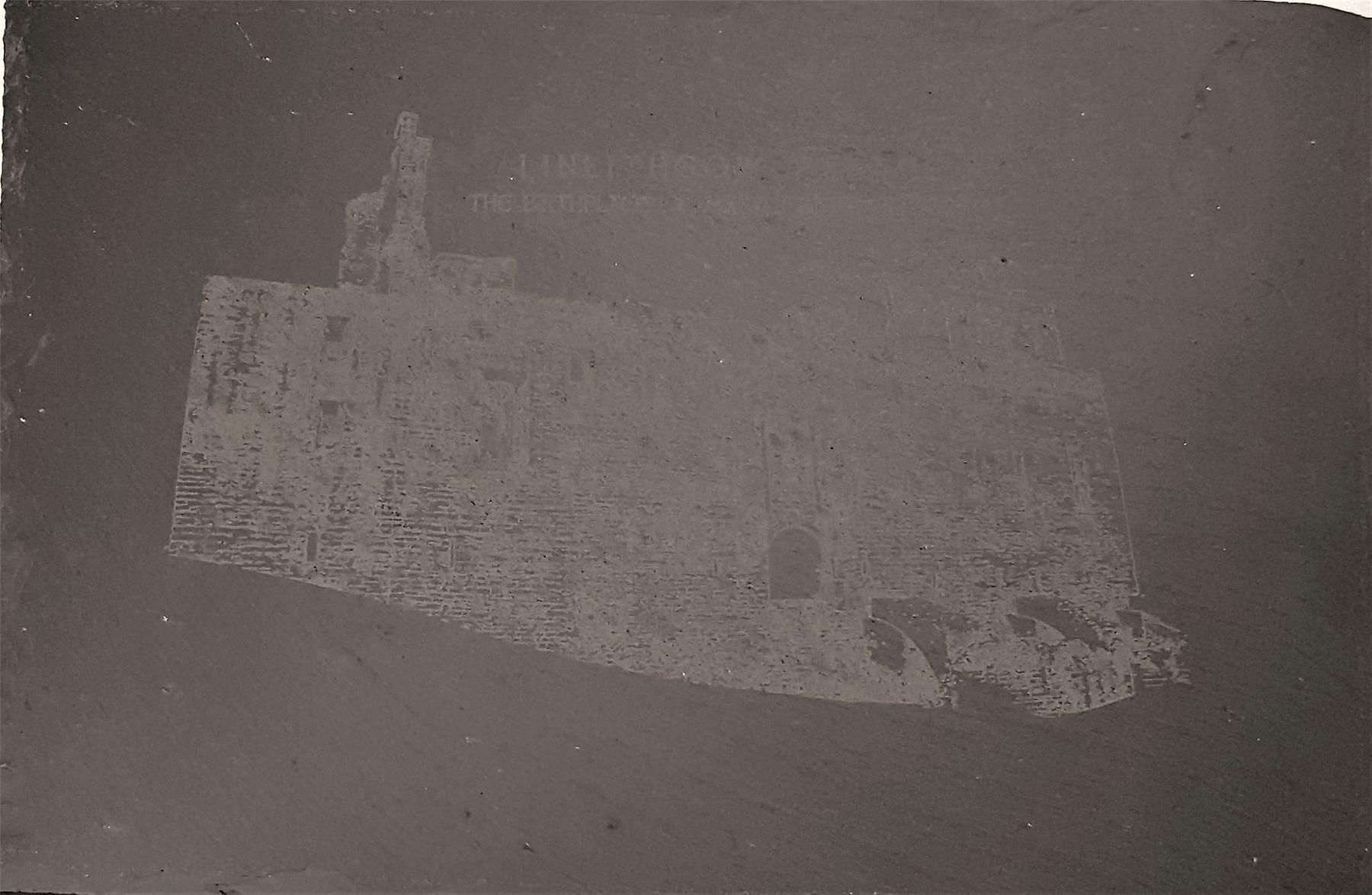 Graham Wishart Laser Etchings Oblong Slate Large with Stand Linlithgow Palace East View