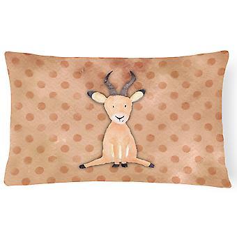 Polkadot Antelope Watercolor Canvas Fabric Decorative Pillow