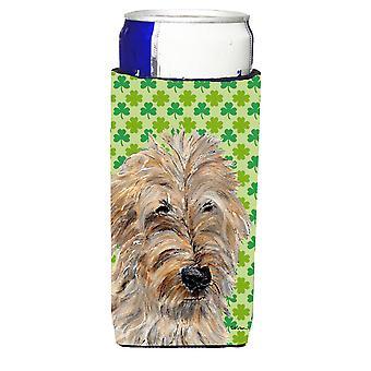 Golden Doodle 2 Lucky Shamrock St. Patrick's Day Ultra Beverage Insulators for s