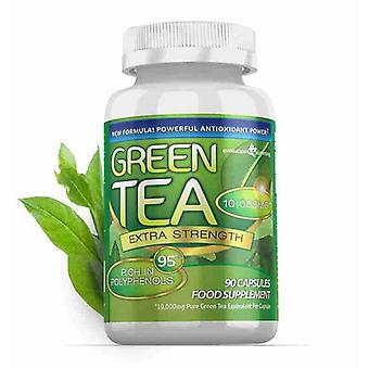 Green Tea Extra Strength 10,000mg with 95% Polyphenols - 90 Capsules (1 Month) - Antioxidant - Evolution Slimming