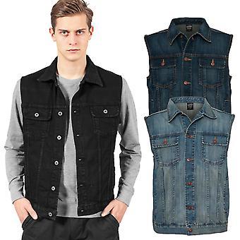 Urban classics - DENIM jeans vest