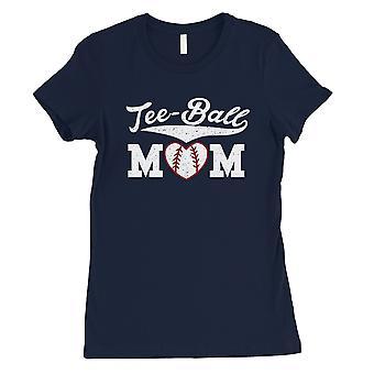 Tee-Ball mor Womens Navy kort erme t-skjorte skjorte morsomme mor gaver