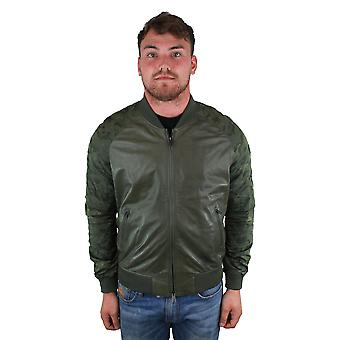 Emporio Armani W1B54P W1P58 010 Leather Jacket