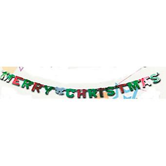 Merry Christmas Banner folie Letters 1.5m
