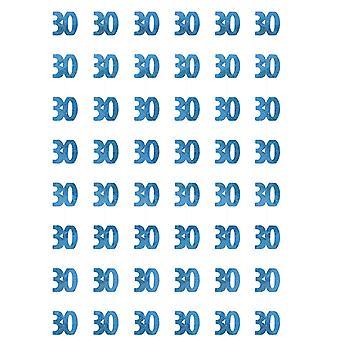 Anniversaire Glitz bleu - 30e anniversaire prisme suspendus décoration
