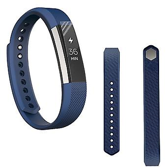 For Fitbit Alta HR plastic / silicone bracelet for men / size L dark blue watch