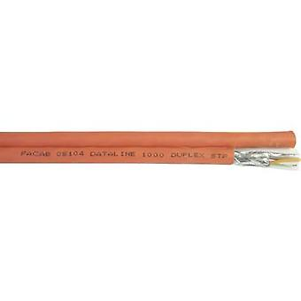 Faber Kabel 101196 Network cable CAT 7 S/FTP 8 x 2 x 0.25 mm² Orange 100 m