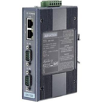 Advantech EKI-1522-CE data Gateway RS-232, RS-422, RS-485 nej. utgångar: 2 x 12 V DC, 24 V DC