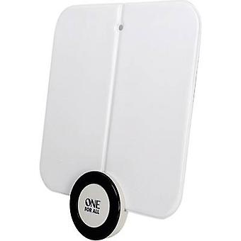 One For All SV 9215 DVB-T/T2 active planar antenna Indoors Amplification: 41 dB White