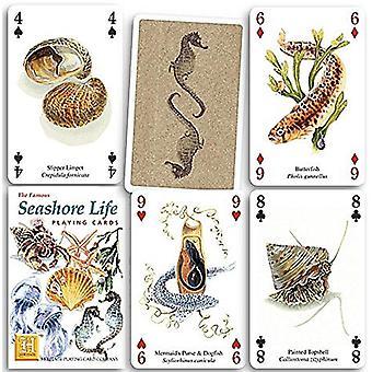 Meeresküste Leben Satz von 52 Spielkarten (+ Joker)