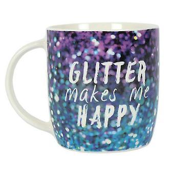 Etwas anderes lila Glitter macht mich glücklich Keramiktasse