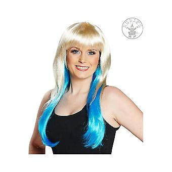 Wigs  blonde wig with turquoise ombre Peggy