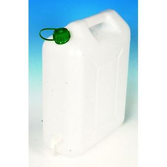 Rangement blanc EauVive 20Ltr avec robinet et poignée plastique