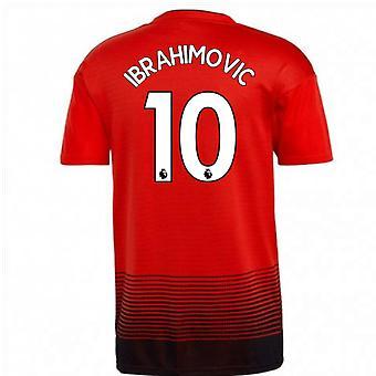 2018-2019 مان يونايتد أديداس الرئيسية كرة القدم قميص (ابراهيموفيتش 10)