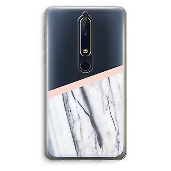 Nokia 6 (2018) caso transparente (Soft) - um toque de pêssego