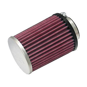 K&N RC-8170 Universal Clamp-On Air Filter: Round Tapered; 2.063 in (52 mm) Flange ID; 4.875 in (124 mm) Height; 3.563 in