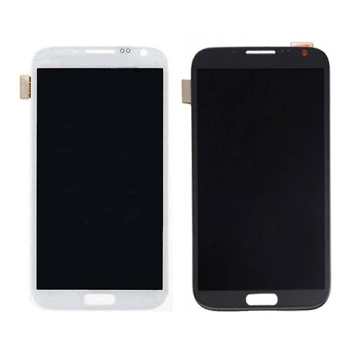 Stuff Certified® Samsung Galaxy Note 2 N7100 screen (Touchscreen + AMOLED + Parts) A + Quality - Black / White
