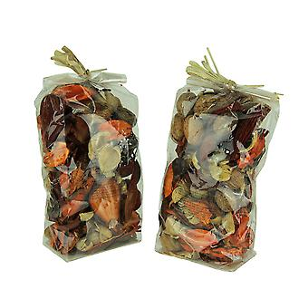 Double Bag Lot of Spice Orange and Brown Dried Botanical Decorative Filler