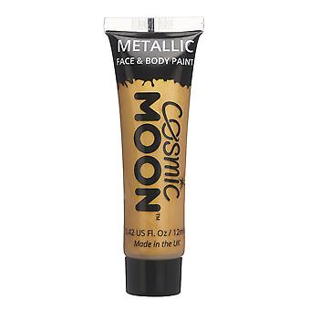 Cosmic Moon - Metallic Face Paint makeup for the Face & Body - 12ml - Create mesmerising metallic face paint designs! - Gold