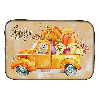 Carolines Treasures  CK2660DDM Fall Harvest Champagne Cockapoo Dish Drying Mat