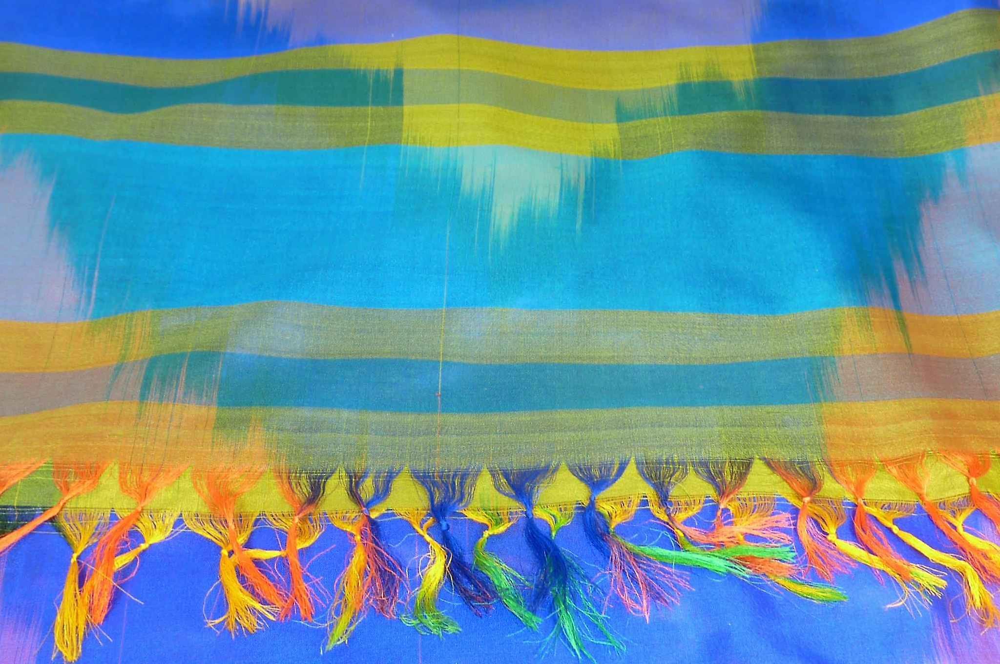 Varanasi Ekal Premium Silk Long Scarf Heritage Range Bharat 6 by Pashmina & Silk