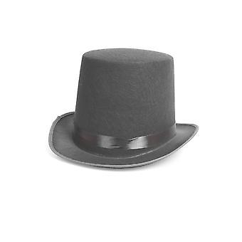 Hoeden van grijze hoge hoed