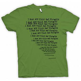 Kids T-shirt - I Must Not Think bad Thoughts - Funny