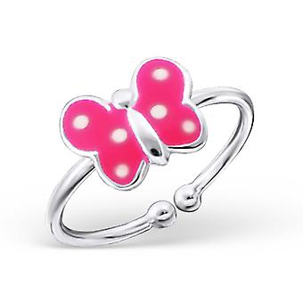 Butterfly - 925 Sterling Silver + Epoxy Colour Rings - W13311x