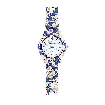 Lovemystyle Blue horloge met hele bloemdessin