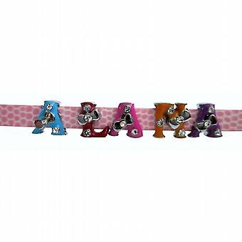 Reloj Multicolor de moda correa nombre pulseras