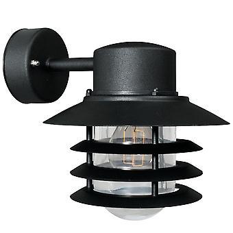 Nordlux Vejers Down - preto voltado para a parede exterior luz - 74471003
