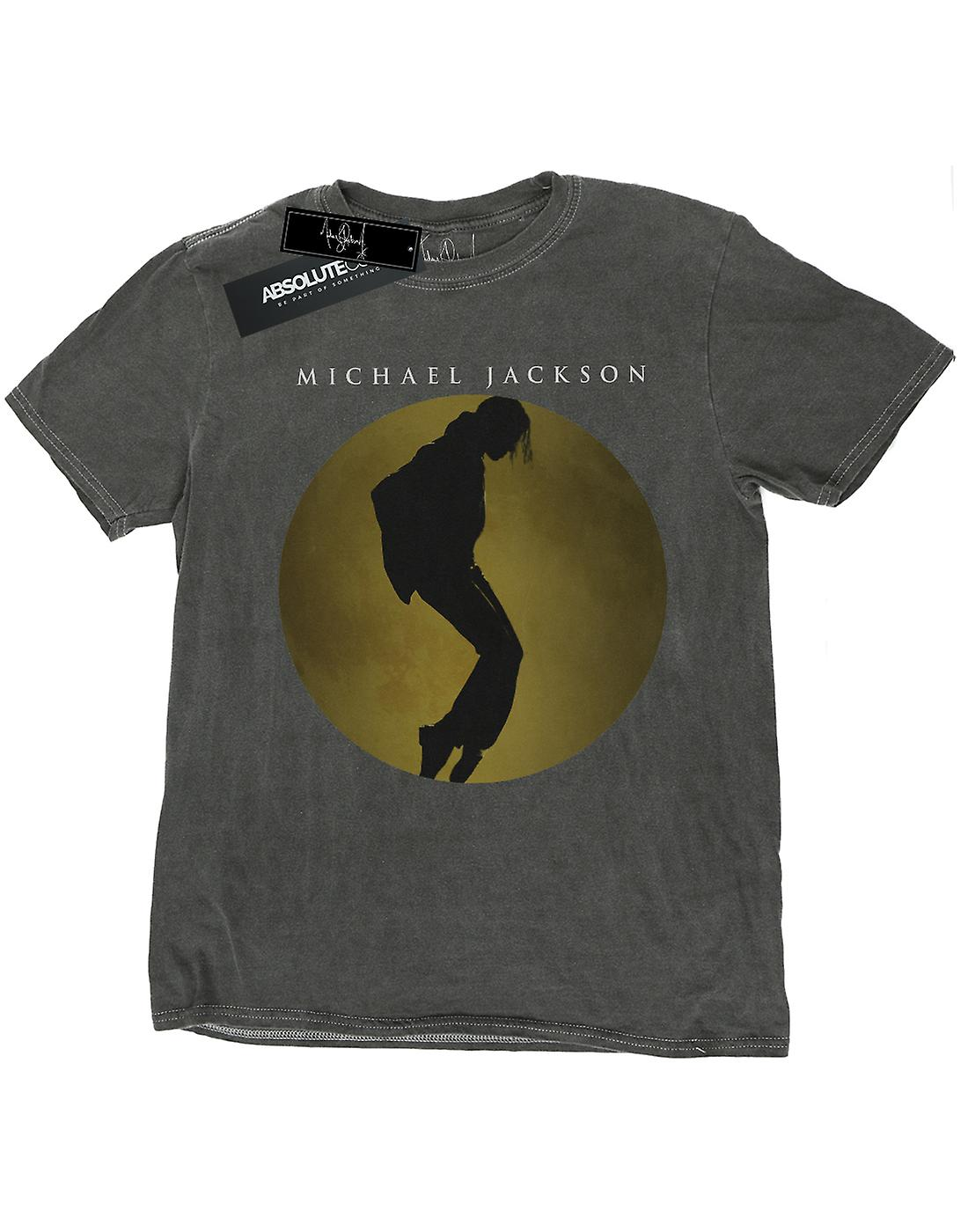 Michael Jackson Men's Moon Circle Washed T-Shirt
