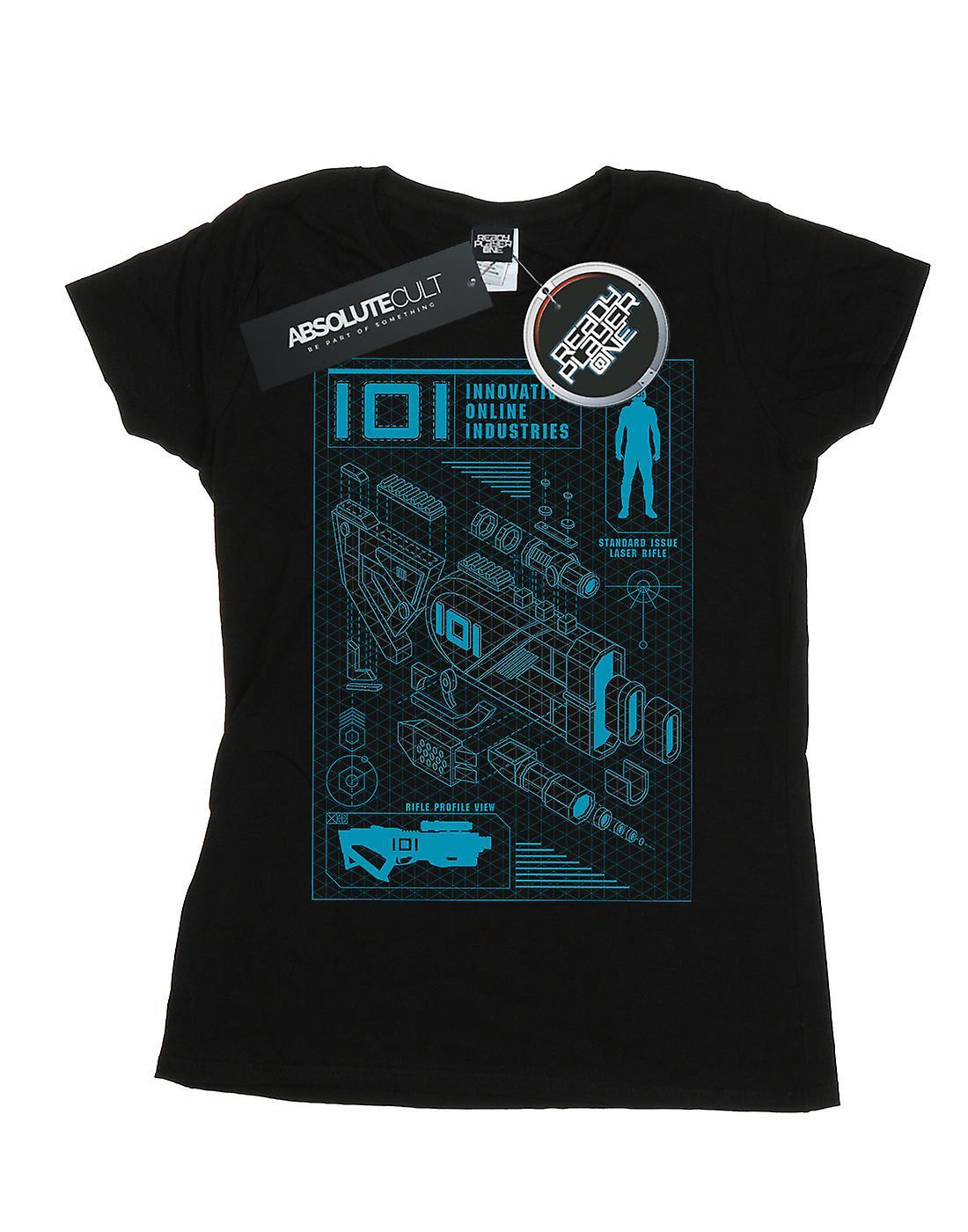Ready Player One Women's IOI Laser Rifle Blueprint T-Shirt