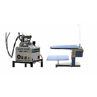 Magpie 5-litre Boiler + De-Luxe Vacuum and Heated Ironing Table Bundle for Industrial Use