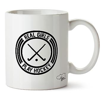 Hippowarehouse Real Play Hockey Printed Mug Cup Ceramic 10oz
