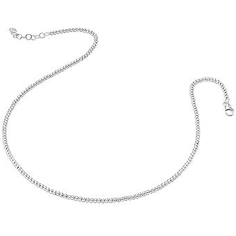 Bella Small Bead Necklace - Silver